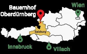 Landkarte Bauernhof Oberdürnberg in Salzburg